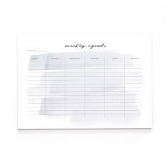 A4 Brush Stroke Weekly Desk Pad