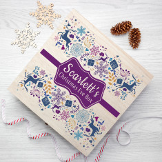 Personalised Traditional Christmas Eve Box - Large - Purple & Blue