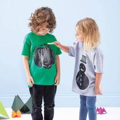 Kids' chalkboard t-shirt in 'today I am going to be ...' design