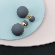 Bubble Earrings In Titanium Grey