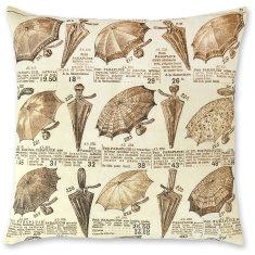 Vintage Parasols linen cushion cover