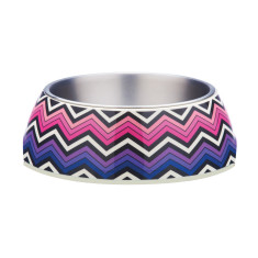 Gummi Pets pet bowl in bright zig zag design