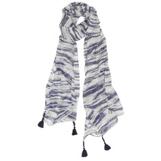 Riviera stripey scarf in navy/white