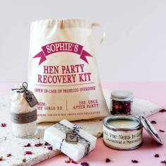 Personalised Hen Party Mini Spa Recovery Kit