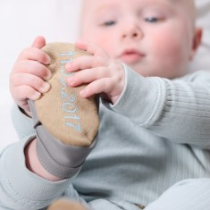 Personalised Moonstone Baby Shoes