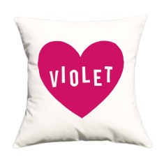 Love heart personalised cushion cover (various colours)
