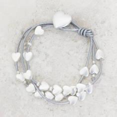 Melissa Personalised Multi Strand Heart Bracelet