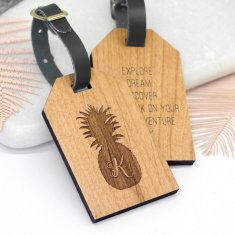 Personalised Pineapple Luggage Tag