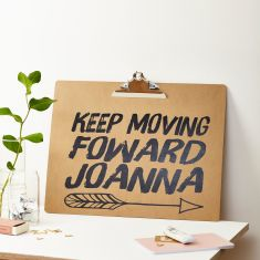 Keep Moving Forward A3 Clipboard