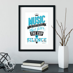 Music is the wine print