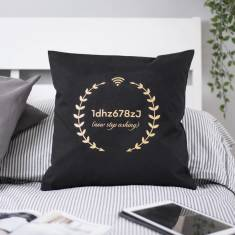 Personalised Wifi Code Cushion