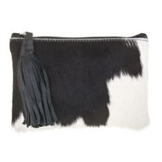 Chloe Black + White (Solid) Leather Clutch