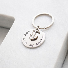 You are my anchor key ring in silver