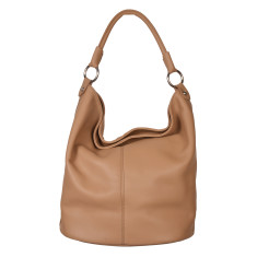 Anna leather shoulder bag in tan