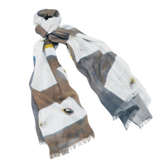 Motel Vacancy linen-blend scarf
