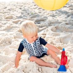 Baby short sleeve sunsuit for boys in Mooloolaba (various colours)