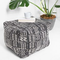 Tribal Ottoman - Charcoal