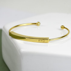 Personalised Initial Bar Bracelet Bangle