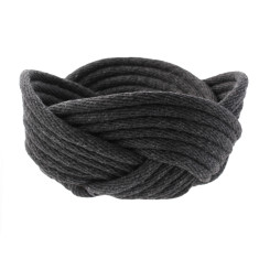 Weave bowl in charcoal