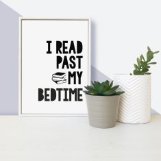 I read past my bedtime quote - framed children's mini print