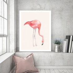 Flamingo Love | Canvas Art