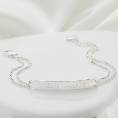 Personalised My First Diamond Plain Identity Bracelet