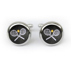 Tennis cufflinks in black