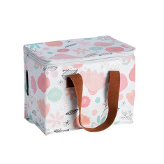 Insulated Lunch Box bag in Love Mae Flower Garden print