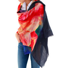 Cashmere Royal Tulip Printed Scarf