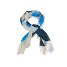 Blue circles cotton scarf