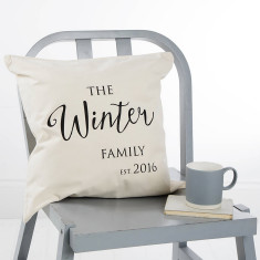 Personalised Family Established Cushion