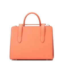 Fashion leather shoulder bag tote bag in orange