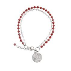 Boho Resort Cherry Pink Stones Double Strand Bracelet