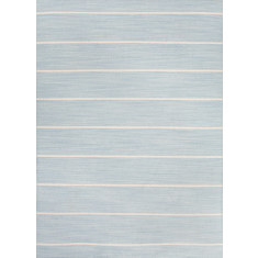 Porcelain Blue/White Ice hand woven flat weave rug