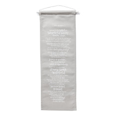 Little dreamer linen mini wall banner