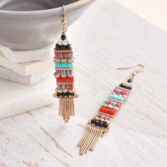 Aztec Style Drop Earrings