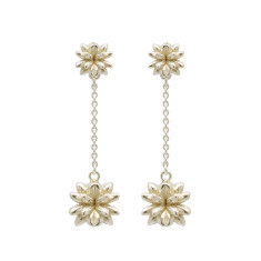 Flowerbomb Drop Earrings in Sterling Silver