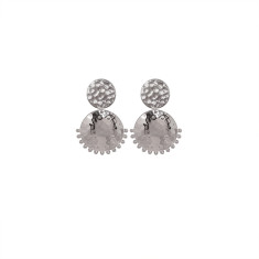 Tribal Stud Earrings in Sterling Silver
