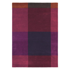 Ted Baker London Plaid Burgundy Rug