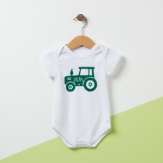 Personalised Tractor Baby Grow