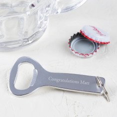 Engraved Congratulations Bottle Opener Keyring