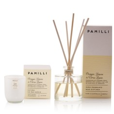 Italia Candle & Diffuser Duo - Oranges Lemons & Citrus Leaves Fragrance
