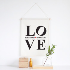 L.O.V.E personalised wall banner