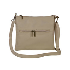 Jennifer beige leather cross body bag
