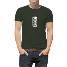 Mini top view men's organic t-shirt