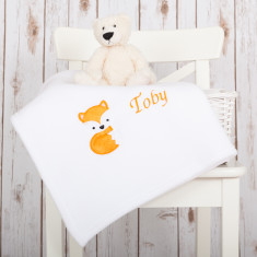 Personalised Fox Baby Blanket