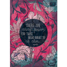 Henri Matisse Quote 'There are Always Flowers' Archival Art Print