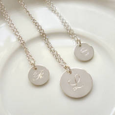 Sterling Silver Engraved Initial Necklace