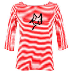 Catty / womens boatneck top