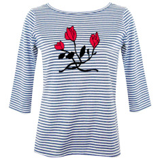 Roses / womens boatneck top